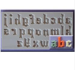 Paku Malzeme - Silikon kalıp Gotik küçük harfler ve sayılar; 15,2*10,6 cm