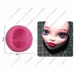 Paku Malzeme - Silikon kalıp Kız yüzü-2 ; 3,9*3 cm