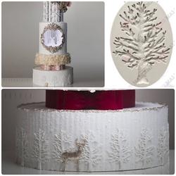 Paku Malzeme - Silikon kalıp Little Tree; motif 8,0*5,5 cm