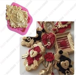 Paku Malzeme - Silikon kalıp Lorenas Medallion; 6,8*4,8 cm