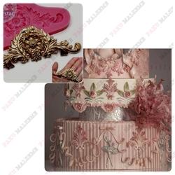 Paku Malzeme - Silikon kalıp Relief embellishment; 9,3*3,5 cm