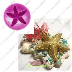 Paku Malzeme - Silikon kalıp Starfish; 7,5*7,4 cm