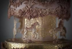 Paku Malzeme - Silikon kalıp Süslü Atlıkarınca; 8,5*6,5 cm (1)