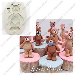 Paku Malzeme - Silikon kalıp Teddy Bear; 7*4,3 cm
