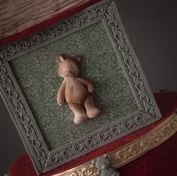 Paku Malzeme - Silikon kalıp Teddy Bear; 7*4,3 cm (1)