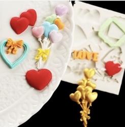 Paku Malzeme - Silikon kalıp Valentines; 11,5*9 cm