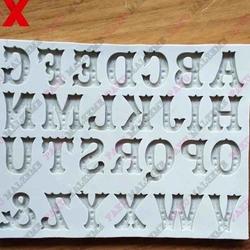 Paku Malzeme - Silikon kalıp Zebrawood alfabe; 15*11,5 cm