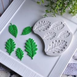Paku Malzeme - Silikon Oak Leaf Meşe Yapraklar; 10,4*8,2 cm