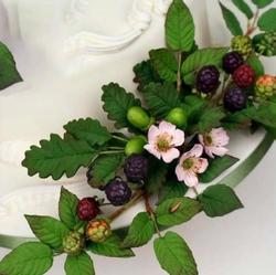 Paku Malzeme - Silikon Oak Leaf Meşe Yapraklar; 10,4*8,2 cm (1)