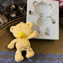 Paku Malzeme - Silikon Russian Teddy-2 Ayıcık; 8,2*6,7 cm