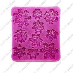 Paku Malzeme - Silikon Snowflakes; 9*8 cm