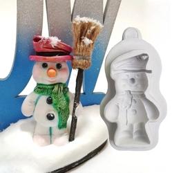 Paku Malzeme - Silikon Snowman Kardanadam; 7,8*4,5 cm