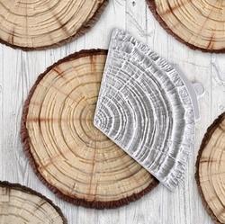 Paku Malzeme - Silikon Tree Bark Log Ağaç Kütük doku; 18,0*10,0 cm