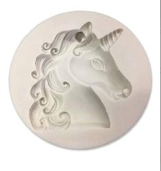 Paku Malzeme - Silikon Unicorn kafası yeni; 6*5,5 cm