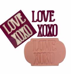 Paku Malzeme - Stamp kaşe LOVE XOXO; 7*7 cm