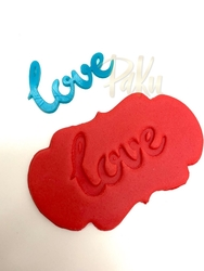 Paku Malzeme - Stamp kaşe LOVE