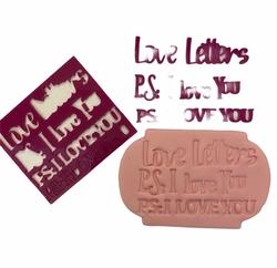 Paku Malzeme - Stamp kaşe P.S: I LOVE YOU; 7*7 cm