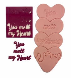 Paku Malzeme - Stamp kaşe You Melt My Heart;7*7 cm