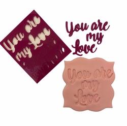 Paku Malzeme - Stamp kaşe You Melt My Heart;7*7 cm (1)