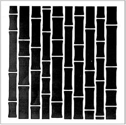 Paku Malzeme - Stencil Bambu; 20*20 cm