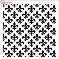 Paku Malzeme - Stencil Fleur de Lis pattern