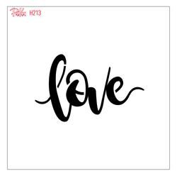 Paku Malzeme - Stencil Love Calligraphy; 15*15 cm