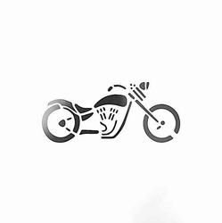 Paku Malzeme - Stencil Motosiklet