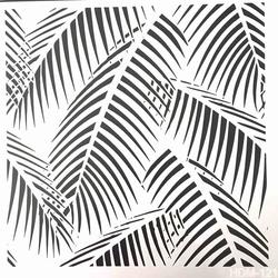 Diğer - Stencil Palm Leaves (1)