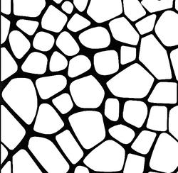 Paku Malzeme - Stencil Taş Duvar; 20*20 cm