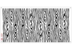 Paku Malzeme - Stencil Wooden Ahşap Doku; 36*18 cm