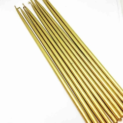 Diğer - Uzun ince mum GOLD 30 cm; 8'li paket