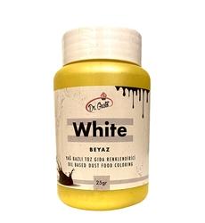 Dr.Gusto - Yağ bazlı toz boya Beyaz; 25 gr