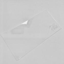 Paku Malzeme - Yeni Şeffaf Pleksi Baskı Plakası; 20*9,5*0,3 cm