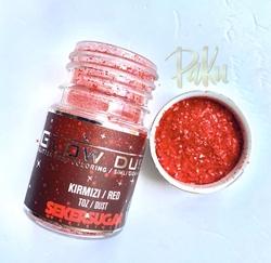 Seker Sugar - Glow Dust yenilebilir sim Kırmızı; 7 gr