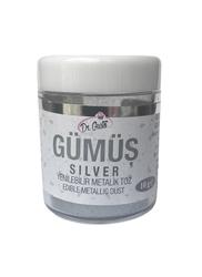 Dr.Gusto - Yenilebilir Metalik toz GÜMÜŞ; 10 gr